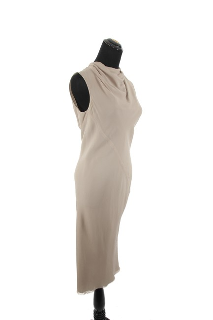 Taupe Maxi Dress by Rick Owens Silk
