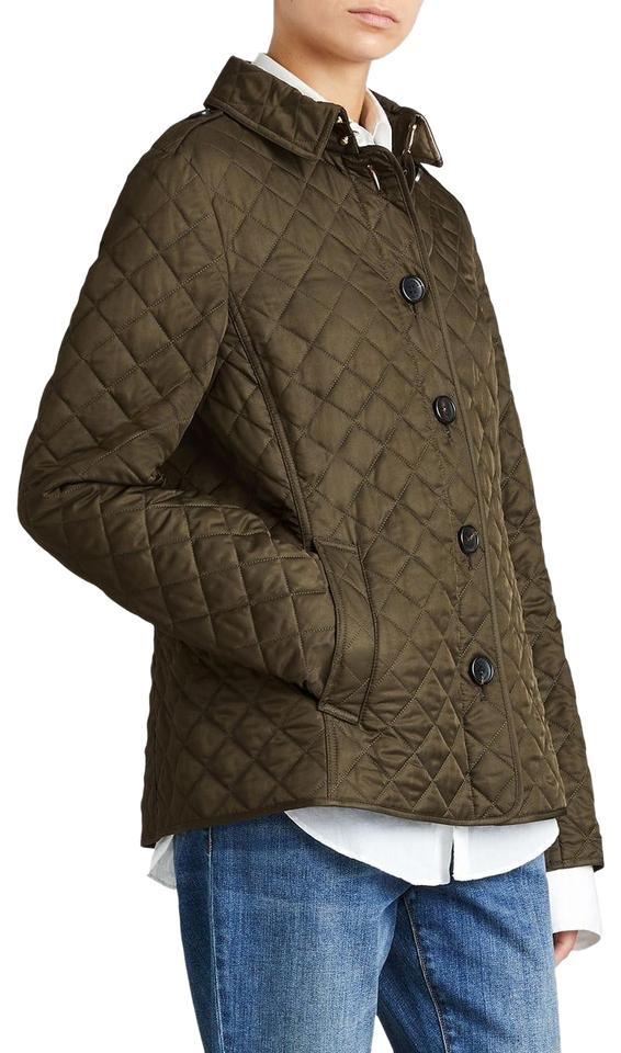 Burberry Dark Olive Green Ashurst Quilted Women S Jacket
