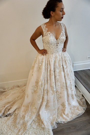 Preload https://img-static.tradesy.com/item/23900292/ysa-makino-blushchampagnegold-organza-68985-formal-wedding-dress-size-8-m-0-0-540-540.jpg
