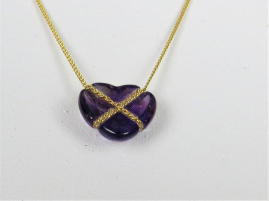 Tiffany & Co. Tiffany& Co Amethyst Heart 18k Yellow Gold Pendant