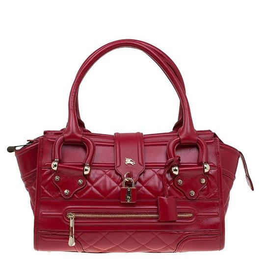 Preload https://img-static.tradesy.com/item/23900345/burberry-quilted-manor-red-leather-satchel-0-0-540-540.jpg