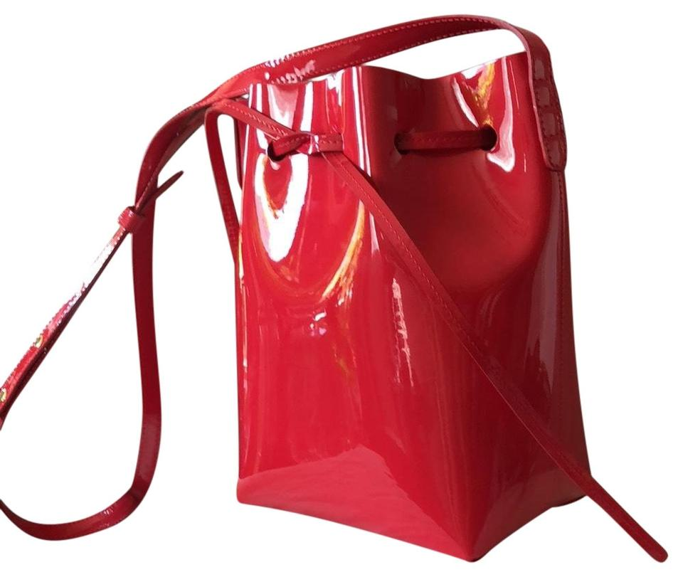 Mansur Gavriel Mini Bucket Red Patent Leather Cross Body Bag - Tradesy