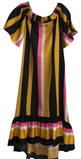 Black, Pink, White, and Gold Maxi Dress by ASOS