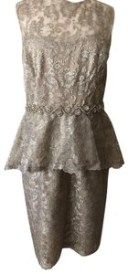 Rickie Freeman for Teri Jon Lace Peplum Dress