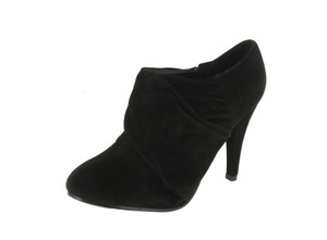 Red Circle Footwear Pleated Heel Black Boots