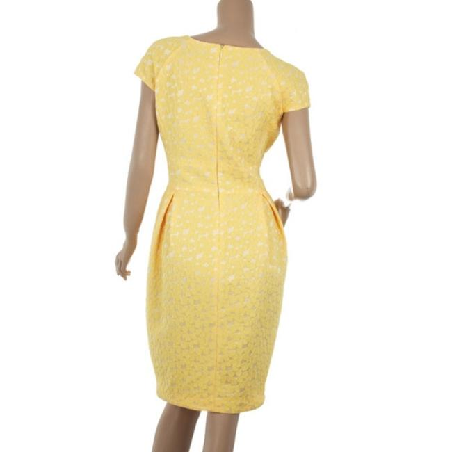 Carolina Herrera short dress Yellow Cotton Lace on Tradesy