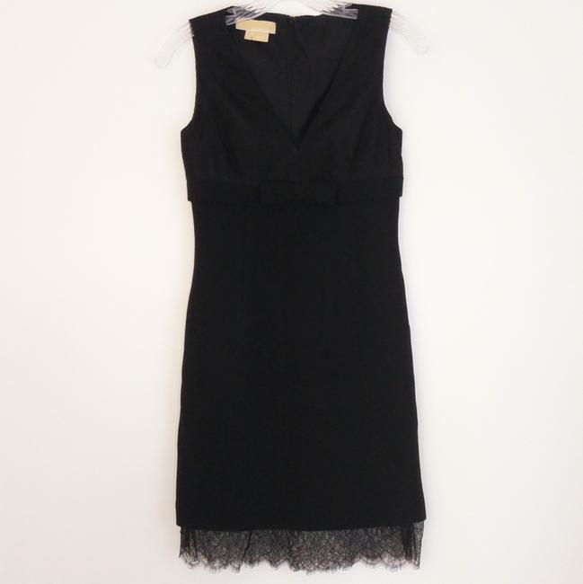 Michael Kors Wool Lace Empire Waist Made In Italy Bow Dress