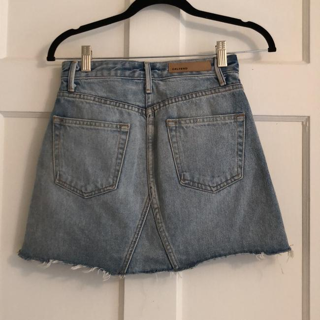 GRLFRND Mini Skirt Denim and Red