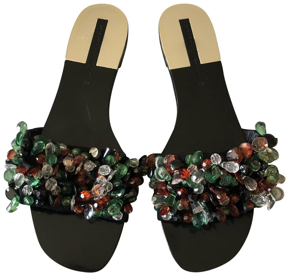 b649ff38678 Beads with Black Sandals Slides Zara 8zH7q --littlechiba.com
