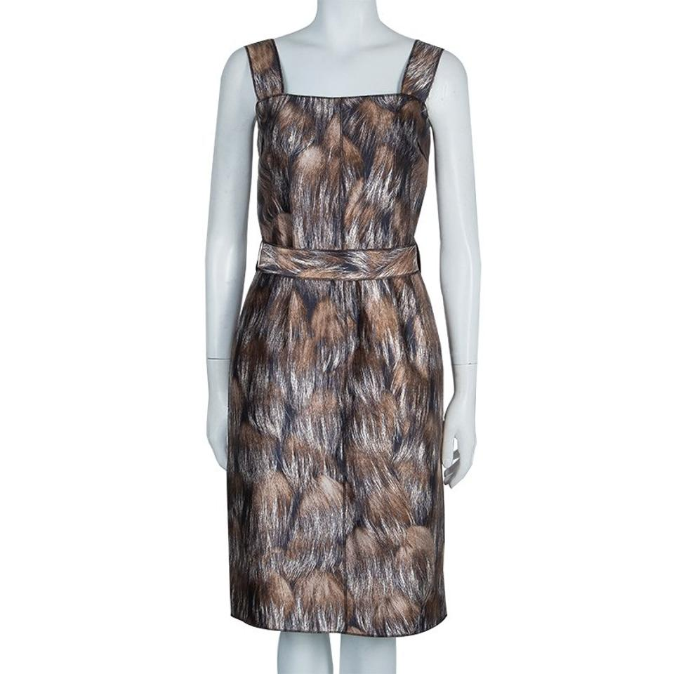 Print Multicolor Strap amp;Gabbana Broad Animal Dress Out Dolce Brown Night 6OyTwIAqw