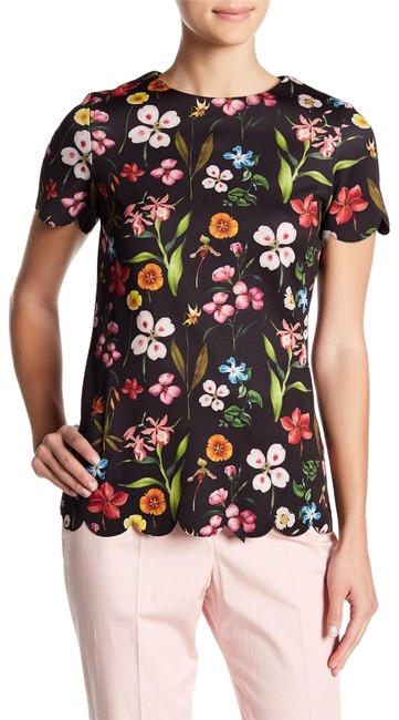 Preload https://img-static.tradesy.com/item/23900685/ted-baker-black-emmalie-hampton-scalloped-hem-tee-shirt-size-12-l-0-1-650-650.jpg