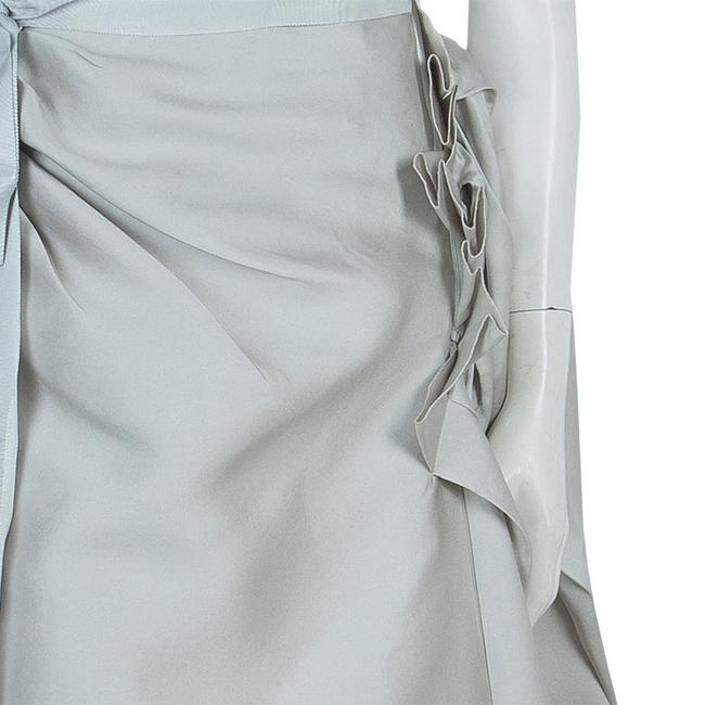 Lanvin Ruffle Detail Strapless Dress