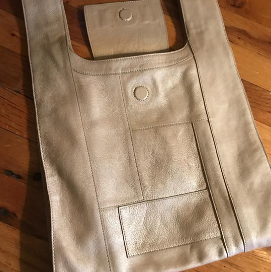 Emmett McCarthy Equation Tote in tan gold