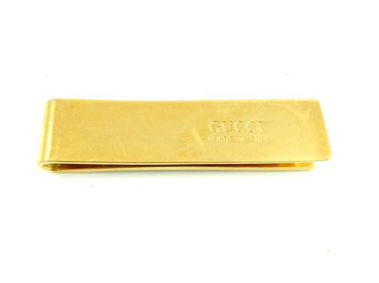 Gucci Rare Vintage Brown Gold Plated Stainless Steel Money Bill Clip