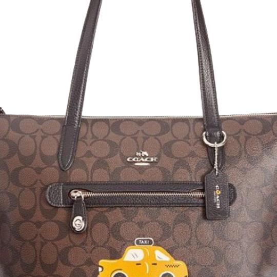 Preload https://img-static.tradesy.com/item/23900734/coach-ny-stories-dark-brown-lining-has-a-pop-color-with-label-signature-coated-canvas-tote-0-1-540-540.jpg