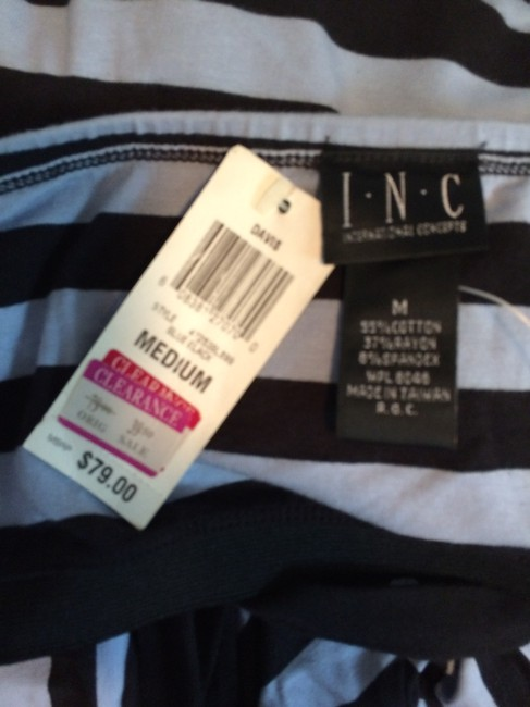 INC International Concepts short dress black & baby blue on Tradesy