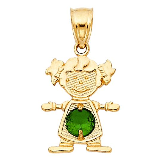 Preload https://img-static.tradesy.com/item/23900991/yellow-gold-14k-may-birthstone-cz-girl-pendant-charm-0-0-540-540.jpg