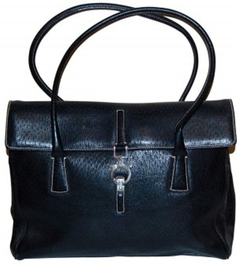 Preload https://item2.tradesy.com/images/salvatore-ferragamo-black-peccary-leather-satchel-23901-0-0.jpg?width=440&height=440