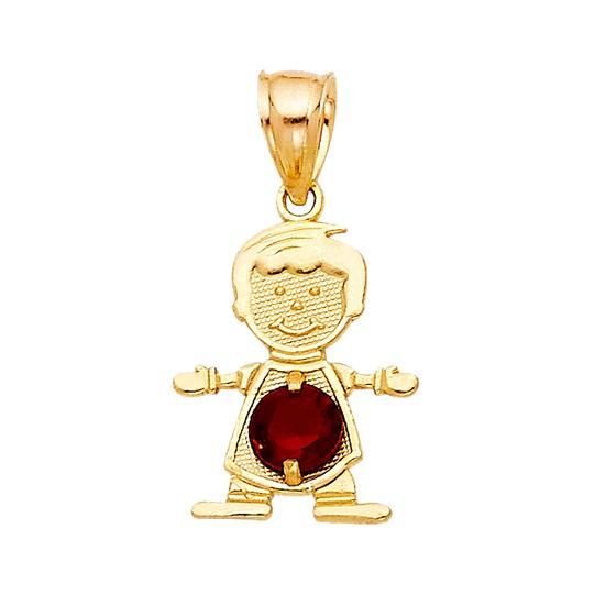 Preload https://img-static.tradesy.com/item/23901061/yellow-gold-14k-january-birthstone-cz-boy-pendant-charm-0-0-540-540.jpg
