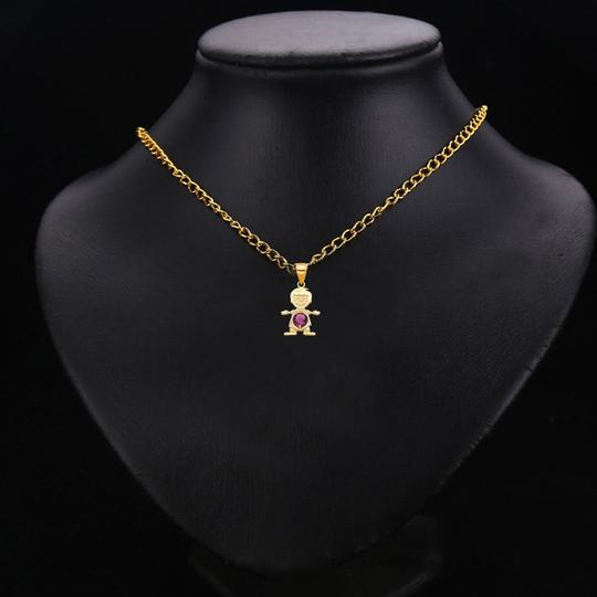 TD Collections 14K Yellow Gold June Birthstone CZ Boy Pendant Image 2