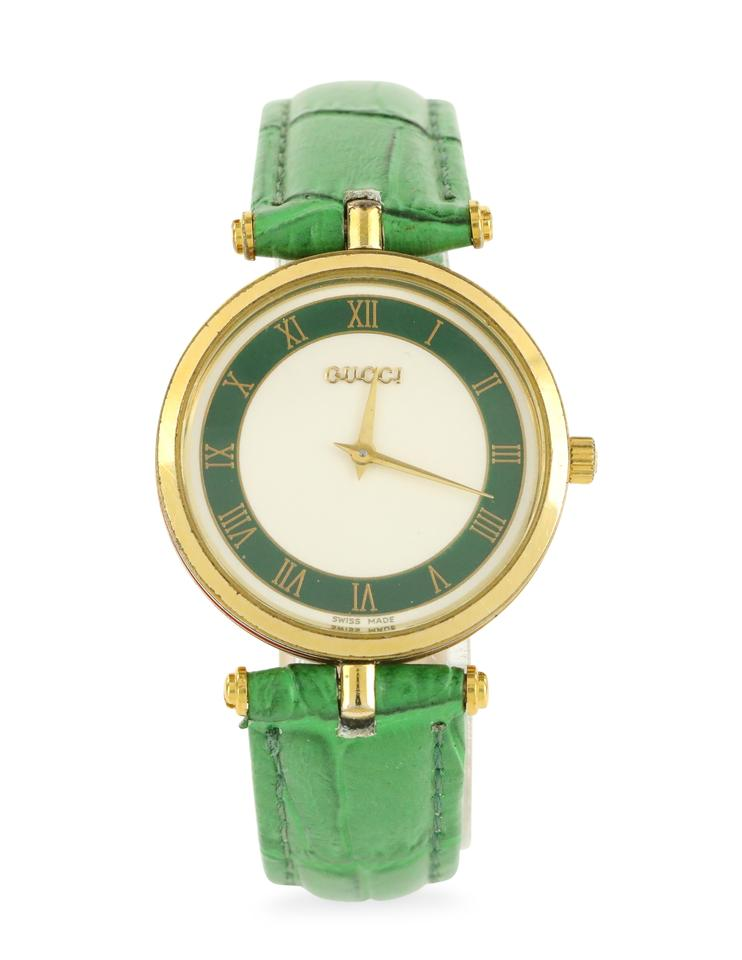 d3c18a46957 Gucci Green Round Dial Watch - Tradesy