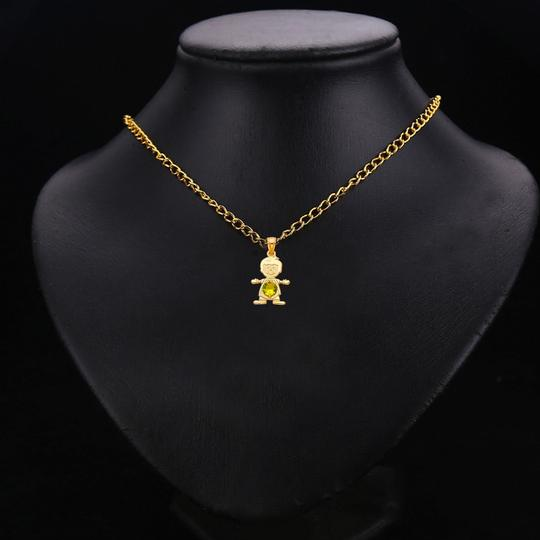 TD Collections 14K Yellow Gold August Birthstone CZ Boy Pendant Image 2