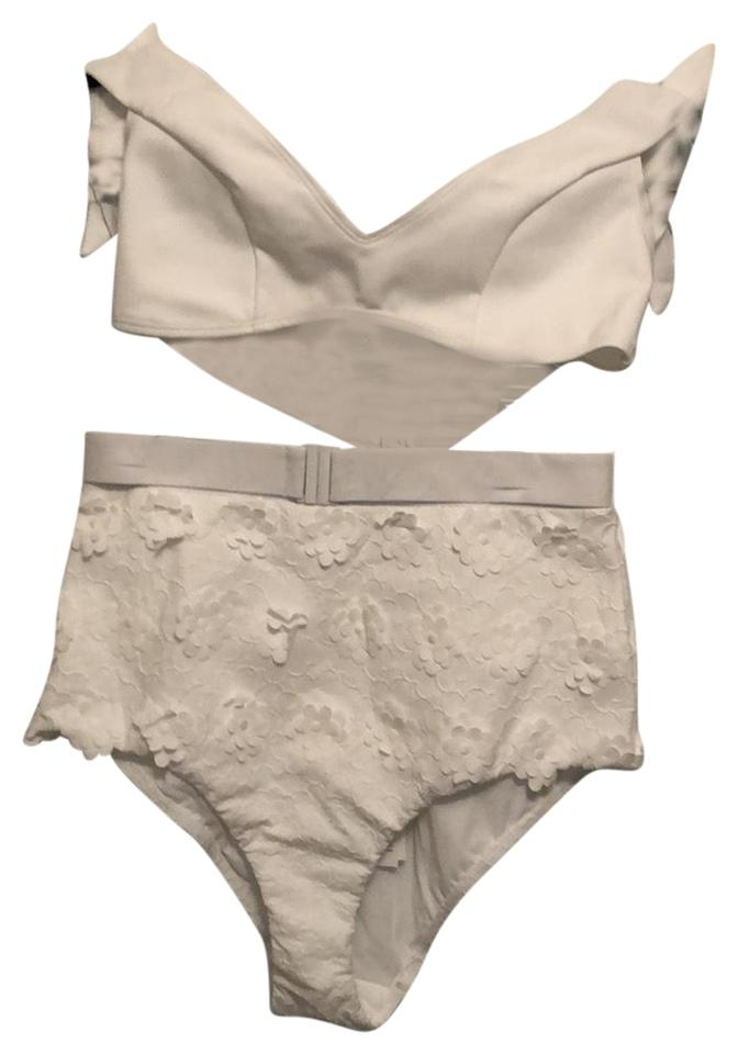 Zimmermann white high wasted flower bikini set size 2 xs tradesy zimmermann high wasted white flower bikini mightylinksfo