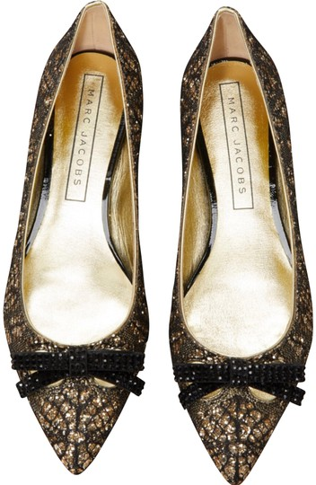 Marc Jacobs Gold/Black Flats Image 0
