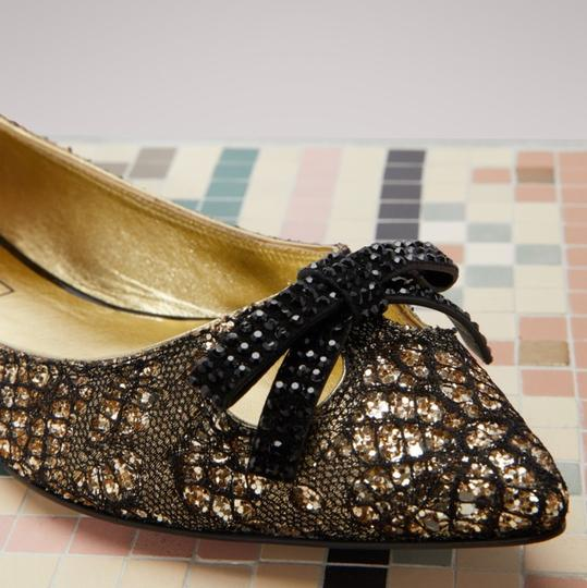 Marc Jacobs Gold/Black Flats Image 2