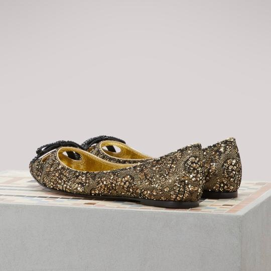 Marc Jacobs Gold/Black Flats Image 4
