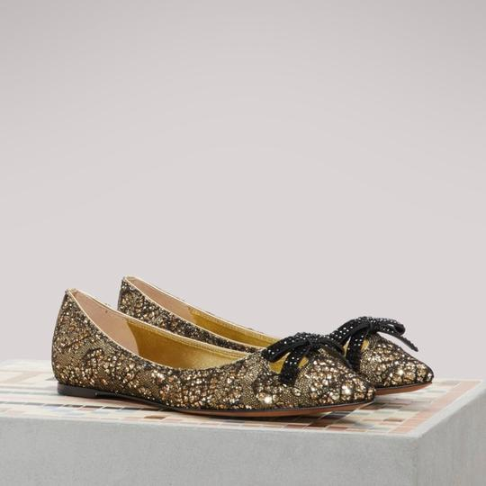Marc Jacobs Gold/Black Flats Image 5