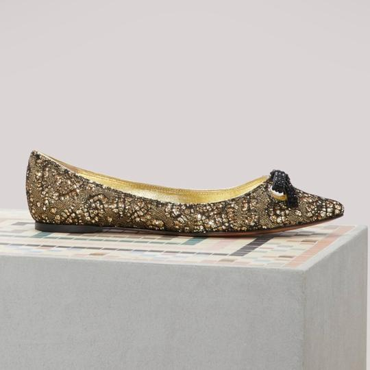 Marc Jacobs Gold/Black Flats Image 6