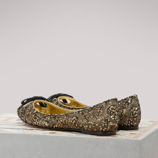 Marc Jacobs Gold/Black Flats Image 7