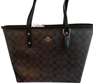 Coach Tote in brown/ Black