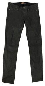 Paige Waxed Night Out Date Night Skinny Jeans-Coated