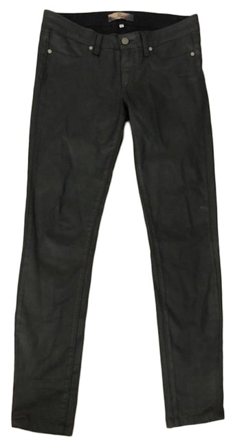 Item - Black Coated Hoxton Ankle In Fog Luxe Skinny Jeans Size 27 (4, S)