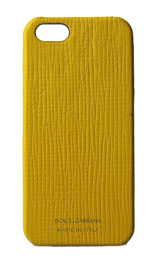 Preload https://img-static.tradesy.com/item/23901518/dolce-and-gabbana-yellow-iphone-case-gold-logo-leather-iphone-5-tech-accessory-0-0-540-540.jpg