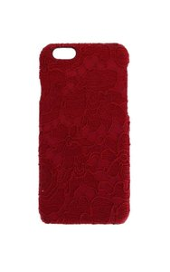 Dolce&Gabbana DOLCE & GABBANA Phone Case Cover Red Lace Cotton Leather iPhone6 Skin