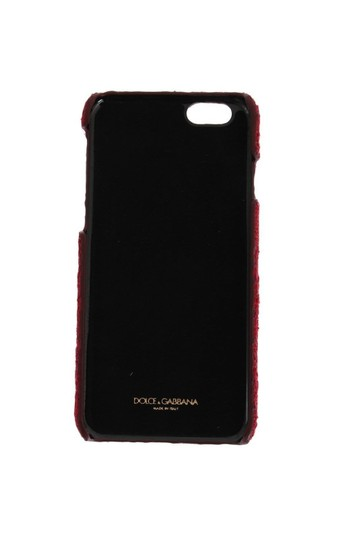 Dolce&Gabbana DOLCE & GABBANA Phone Case Cover Red Lace Cotton Leather iPhone6 Skin Image 1