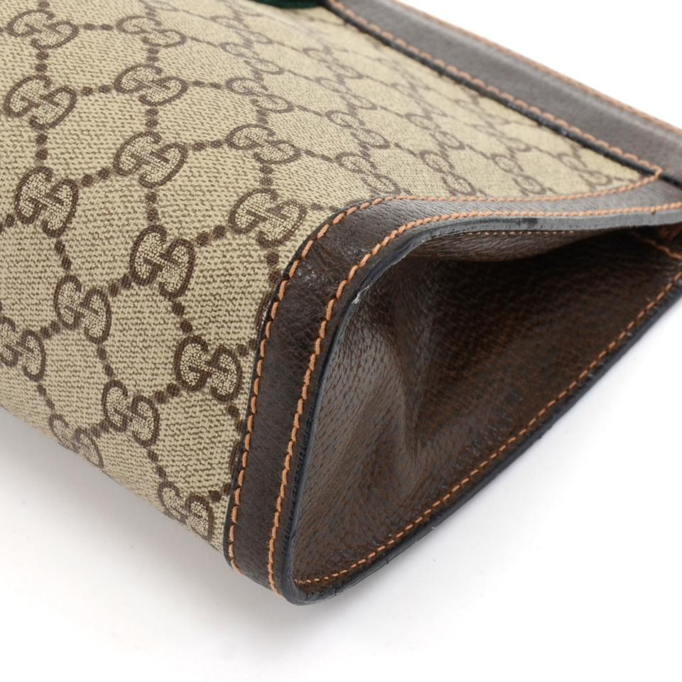fc574d2f2df Gucci Vintage Parfums Gg Supreme Brown Coated Canvas Clutch - Tradesy