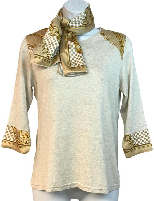 Preload https://img-static.tradesy.com/item/23901649/beige-made-in-france-printed-trim-jersey-3-blouse-size-8-m-0-1-650-650.jpg