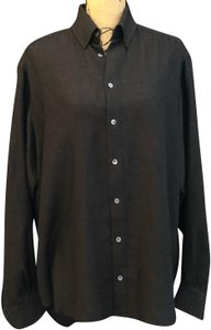 Armani Collezioni Button Down Shirt Black