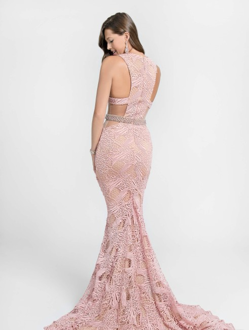 Terani Couture Lace Full Length Prom Beaded Dress Image 1