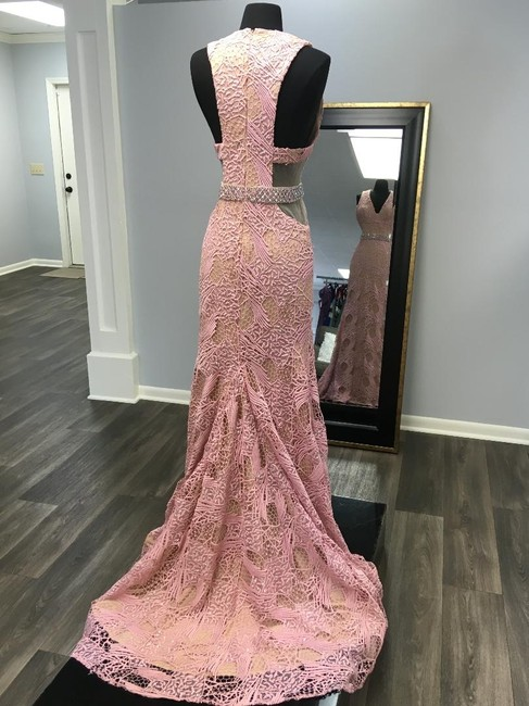 Terani Couture Lace Full Length Prom Beaded Dress Image 3
