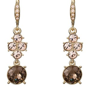 Givenchy Gold-Tone Crystal Drop Earrings
