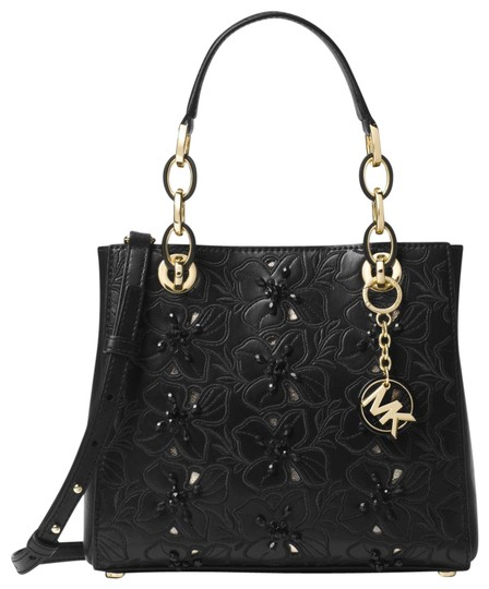 Preload https://img-static.tradesy.com/item/23901737/michael-kors-small-floral-embroidered-black-leather-satchel-0-1-540-540.jpg