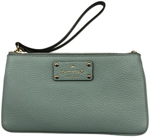 Kate Spade Leather Clutch Blue Wristlet in Turquoise