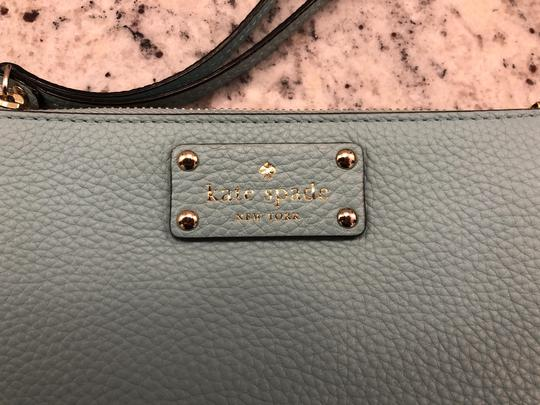 Kate Spade Leather Clutch Blue Wristlet in Turquoise Image 1