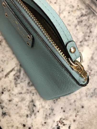 Kate Spade Leather Clutch Blue Wristlet in Turquoise Image 3