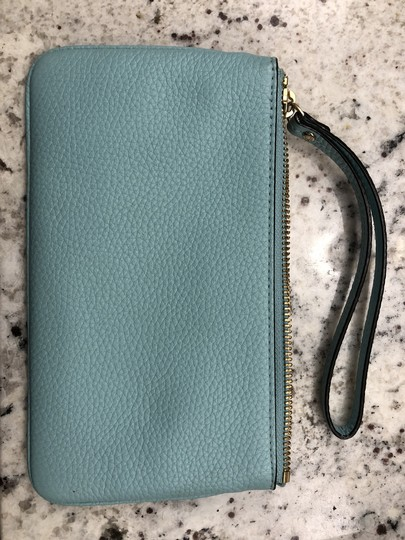 Kate Spade Leather Clutch Blue Wristlet in Turquoise Image 4